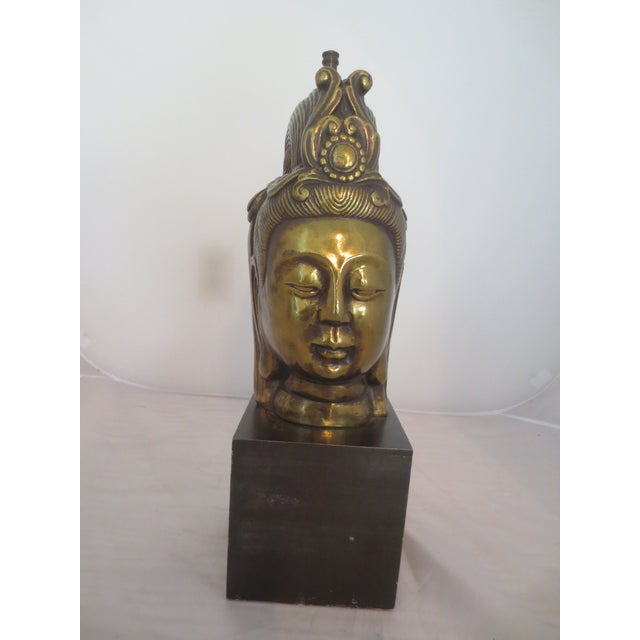 Large Brass Buddha Head - Image 2 of 6