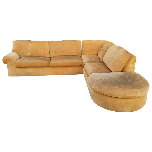 A. Rudin Mid-Century Yellow Sectional Sofa - Image 1 of 7