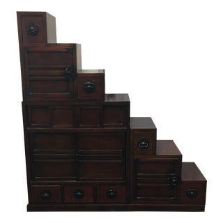 Chinese 4 Piece Stepped Tansu Cabinet