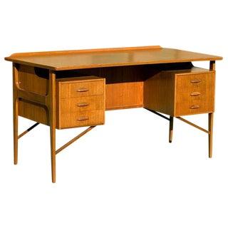 Kai Kristiansen Style Danish Teak Desk