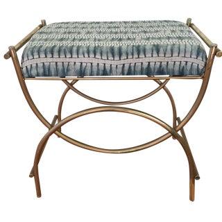 Vintage Brass Vanity Bench