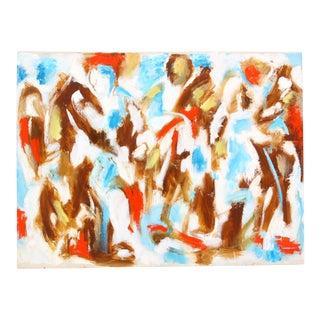 """Circa 1950 Phillip Callahan """"Abstract Emergence"""" Painting"""