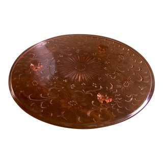 1930s Pink Depression Glass Cake Plate