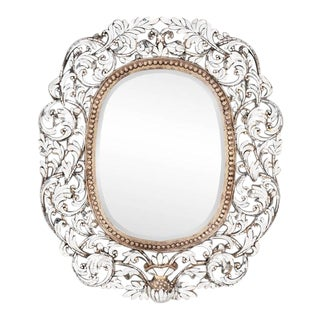 Transitional Oblong Handcut Glass Mirror