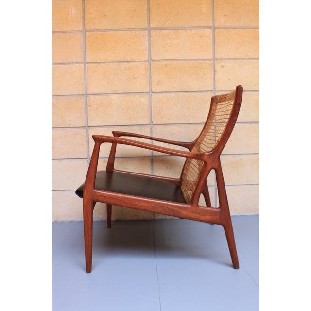 Danish Modern Cane Back Armchair - Image 3 of 8