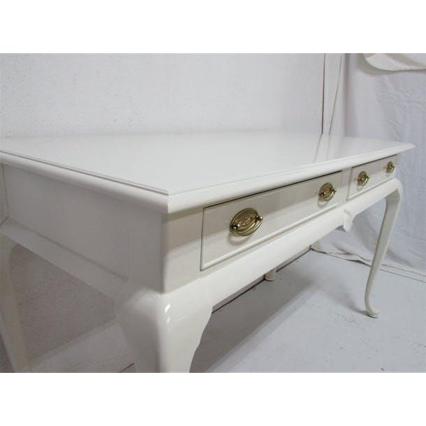 Drexel Lacquered 2-Drawer Desk - Image 3 of 7