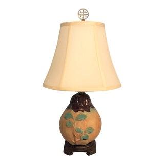 Chinese Stoneware Pear Lamp