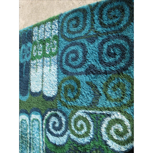 Room Size Vintage Scandinavian Rug - 7′10″ × 11′4″ - Image 2 of 4