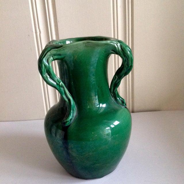 Handmade Mid-Century Emerald Green Vase - Image 7 of 7