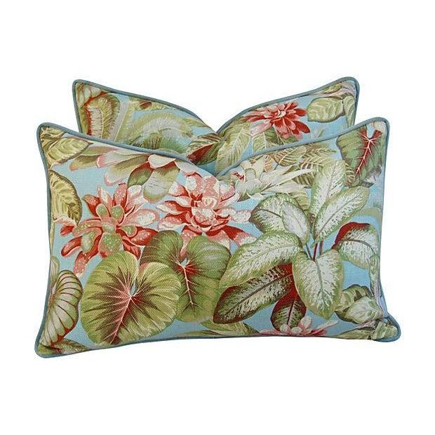 Lush Botanical Linen & Velvet Pillows - Pair - Image 7 of 7