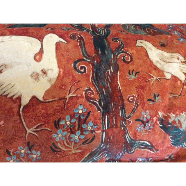 Image of Melissa White Zoffany Arden Red Down Pillow - Pair