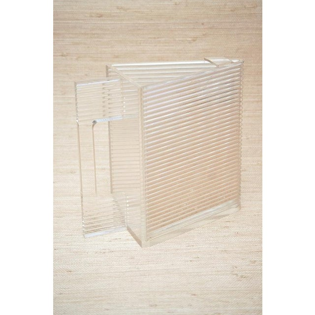 Circa 1970 Postmodern Triangular Lucite Pitcher - Image 5 of 6