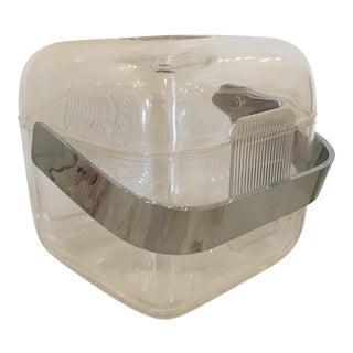 Mid-Century Modern Italian Signed Lucite and Chrome Guzzini Ice Bucket