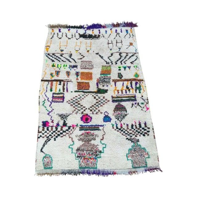 Vintage Azilal Wool Moroccan Rug - 5″ × 7″ - Image 1 of 4