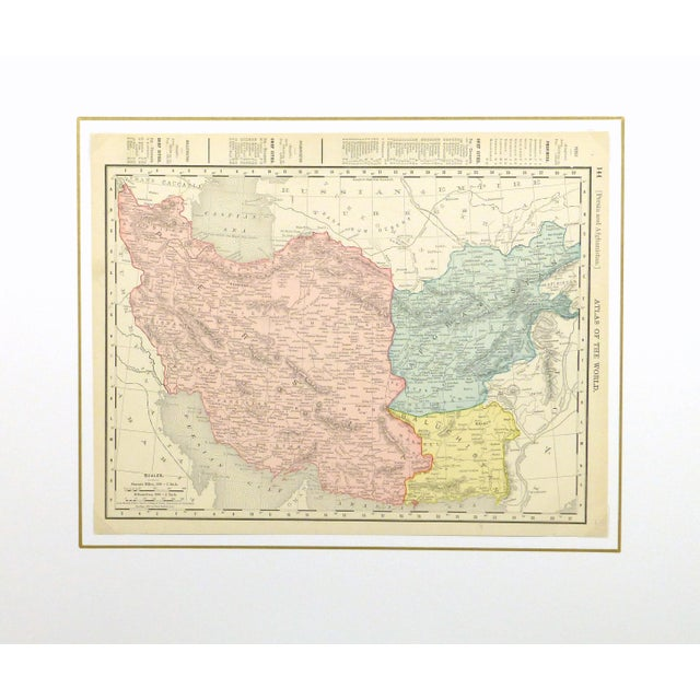 Vintage Map of Persia & Afghanistan, 1895 - Image 3 of 3