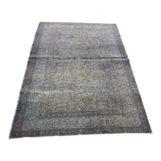 Distressed Vintage Turkish Overdyed Rug - 4' X 6'2""