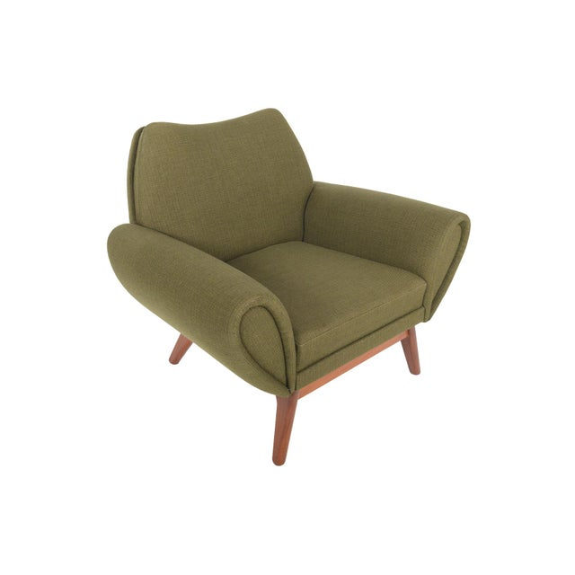 Johannes Andersen Lounge Chair in Olive - Image 3 of 11