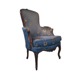 Antique French Louis XIV Beachwood Bergere Chair