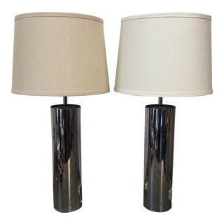 Mid-Century Chrome Lamps by Robert Sonneman - A Pair