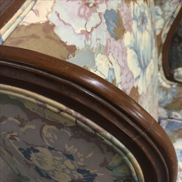 Large Peonies Upholstered Chairs - A Pair - Image 4 of 10