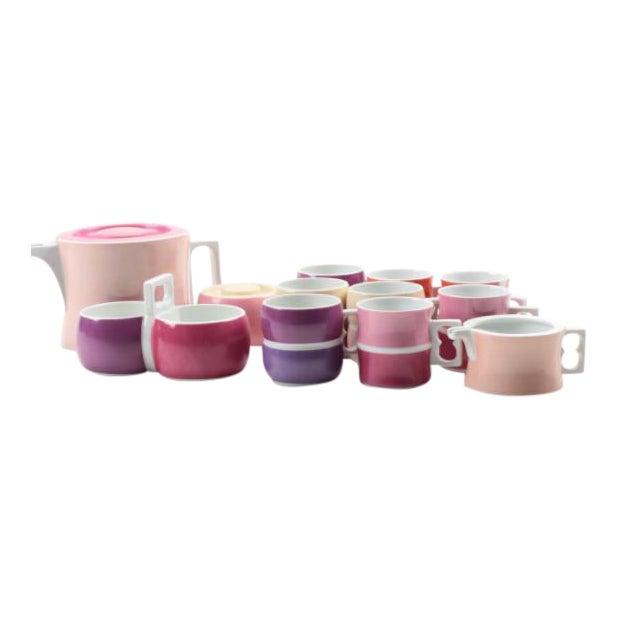 Vintage Block Chromatics Tea Set - Set of 12 - Image 1 of 10