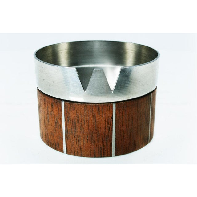 Walnut and Pewter Ashtray by Paul Evans - Image 2 of 7