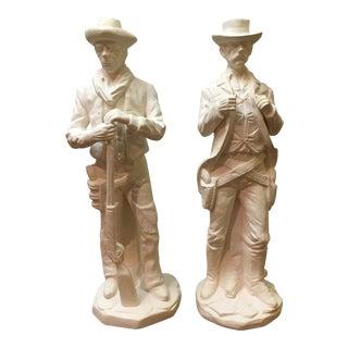 Vintage Western Ceramic Statues - A Pair