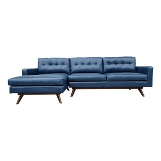 Mid-Century Modern L Shaped Sofa With Chaise