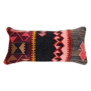Burgundy & Pink Turkish Kilim Cushion