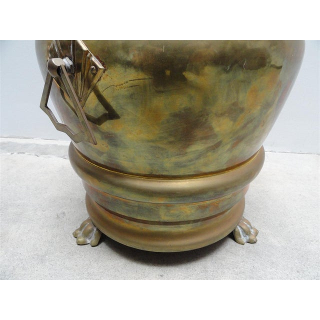 Decorative Solid Brass Waste Basket With Cover Chairish