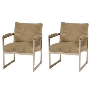Milo Baughman for Thayer Coggin Square Chairs - A Pair