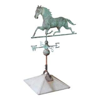 Antique Copper Horse Weathervane