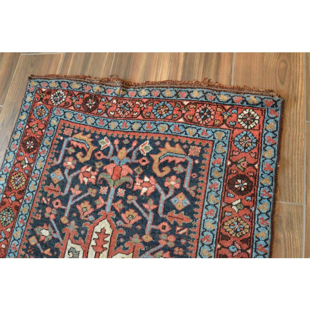 Antique Persian Heriz Karajeh Runner- 3′6″ × 8′10″ - Image 10 of 11