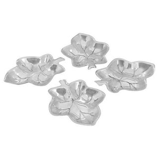 Silverplate Leaf Shaped Salt Cellars - Set of 4