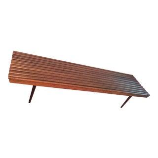 Extra Long Slat Wood Bench