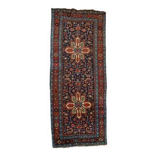 """Antique Persian Heriz Karajeh Runner - 3'6"""" X 8'10"""""""