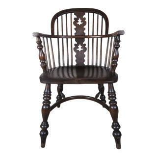 English Windsor Elm Wood Armchair
