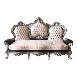 Tufted Italian Rococo Three-Seater Settee