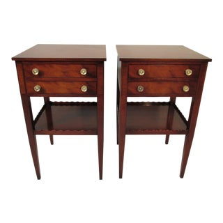 Beacon Hill Mahogany Nightstands - A Pair