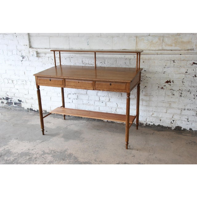Antique Quarter Sawn Oak Railroad Standing Desk - Image 2 of 11 - Antique Quarter Sawn Oak Railroad Standing Desk Chairish