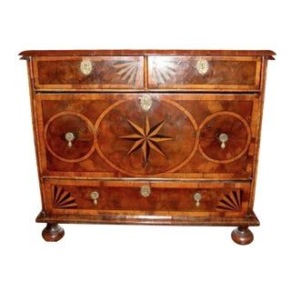 Antique William & Mary Oyster Inlay Period Chest