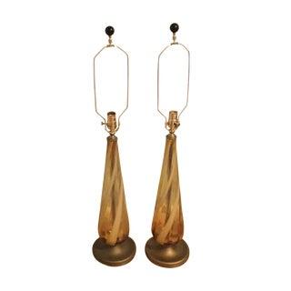 Mid-Century Murano Glass Lamps
