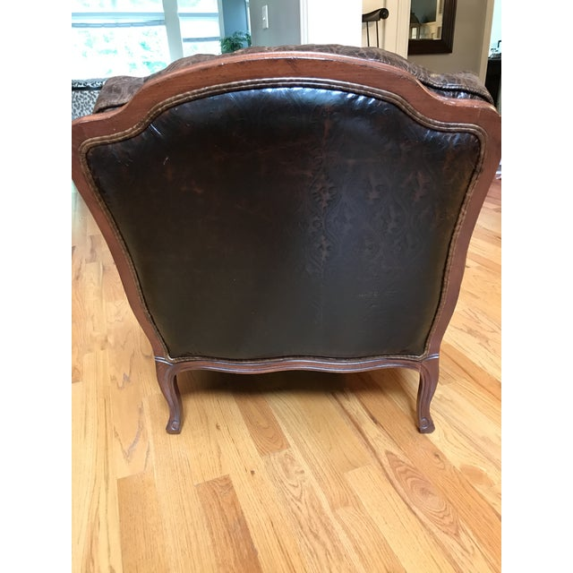 Ethan Allen Versailles Leather Chair - Image 3 of 5