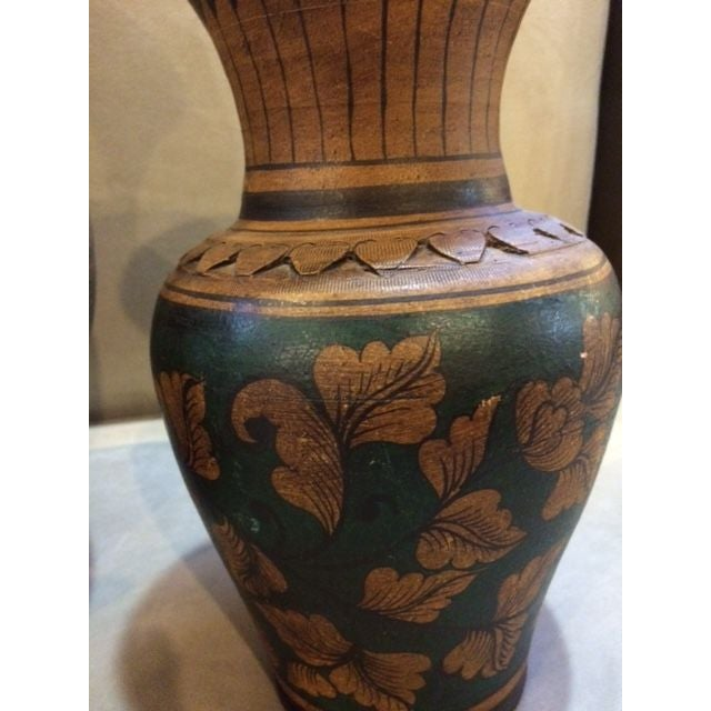 Mid-Century Urns with Deco Motif - A Pair - Image 6 of 6