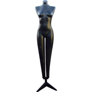 Tall Heavy Fiberglass Standing Mannequin Art Deco Mannequin Brass Modernist Decor