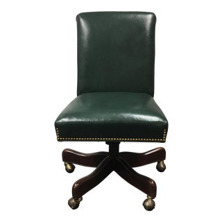 Hancock & Moore Green Leather Office Chair