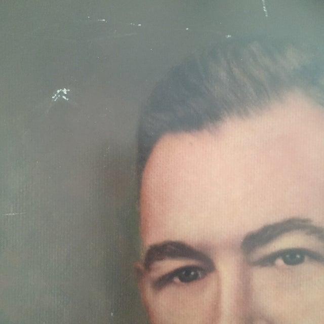 Vintage Framed Portrait Painting of Business Man - Image 5 of 11