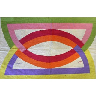 1971 Abstract Design Needlepoint Rug