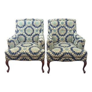 Vintage Mid Century Accent Chairs - Pair