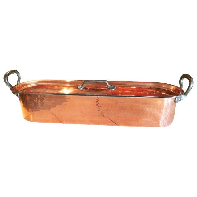 Image of Vintage French Copper Pot Poissonnière